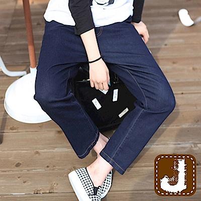 正韓 正藍抽繩綁帶寬版垮褲-(水洗藍)100%Korea Jeans