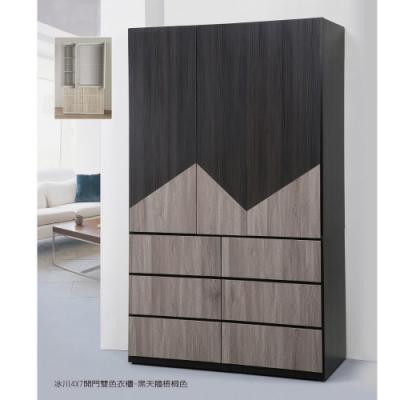 MUNA 冰川雙色4X7尺開門衣櫥(共兩色) 115.8X57X198.5cm