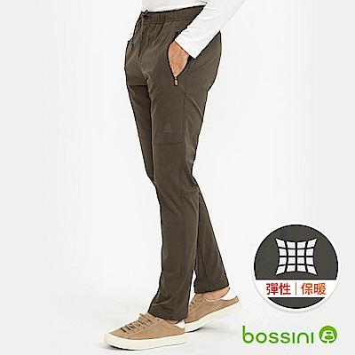 bossini男裝-彈性輕便保暖褲(外層加厚)02軍綠色