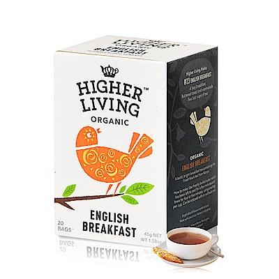 699免運-英國HIGHER LIVING 有機經典英式早餐茶20包共45g