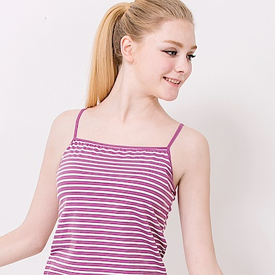 棉質涼感舒適細肩帶BRA-TOP背心 俏麗紫 可蘭霓Clany