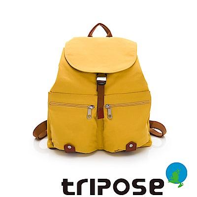 tripose MEMENTO系列微皺尼龍輕量防潑水後背包-大(亮彩黃)