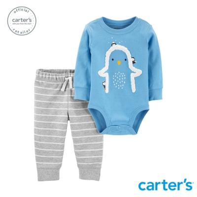 Carter s台灣總代理 立體企鵝2件組套裝