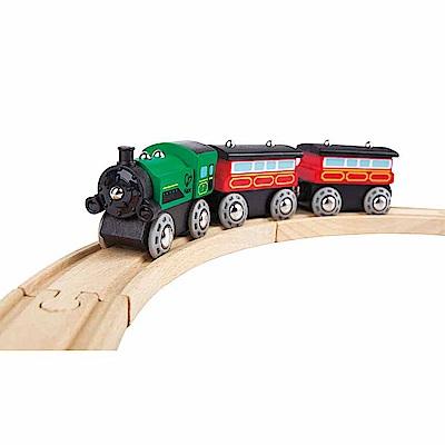 德國Hape愛傑卡 軌道系列-連結火車(綠)