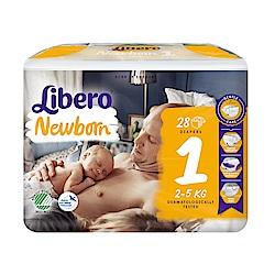 Libero麗貝樂 黏貼式嬰兒紙尿褲(1號NB-1)(28片/包)