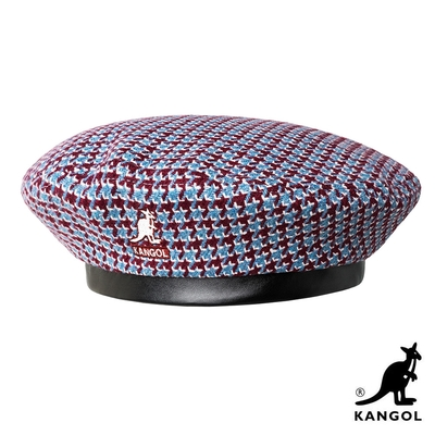 KANGOL-TOOTH GRID 貝蕾帽-紅藍色