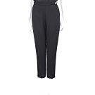 ELISABETTA FRANCHI 金屬LOGO裝飾黑色側拉鍊老爺褲