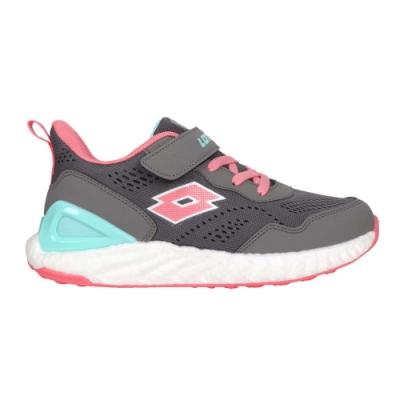 LOTTO 女大童速SPEED跑鞋-路跑 運動 彈力球 反光 LT0AKR2638 灰粉紅湖藍