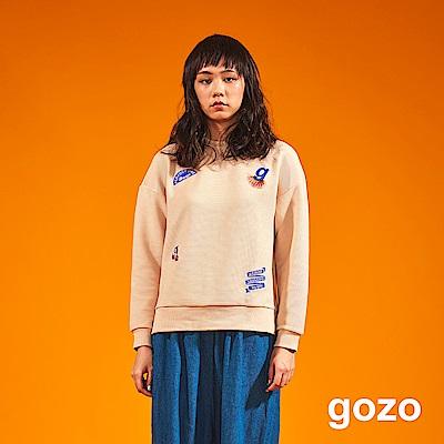 gozo 立體壓紋繡線圖騰造型上衣(二色)