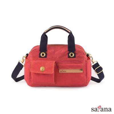 satana - Soldier 解構美好手提包 - 洛可可紅