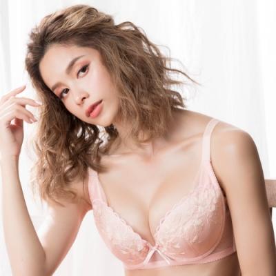 莎薇-大美人 D-F 罩杯全罩式內衣(粉)大尺碼大罩杯