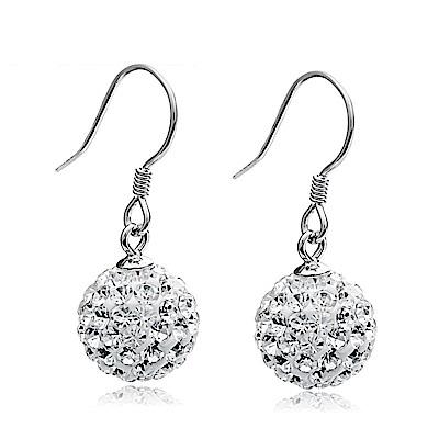 米蘭精品 925純銀耳環-小圓珠鑲鑽耳環