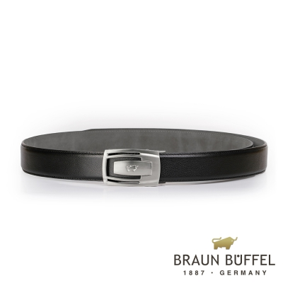 BRAUN BUFFEL - 沉穩內斂紳士自動扣皮帶 - 銀色