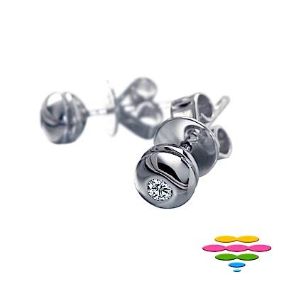 彩糖鑽工坊 14K 6分包鑲鑽石耳環 圓舞曲系列