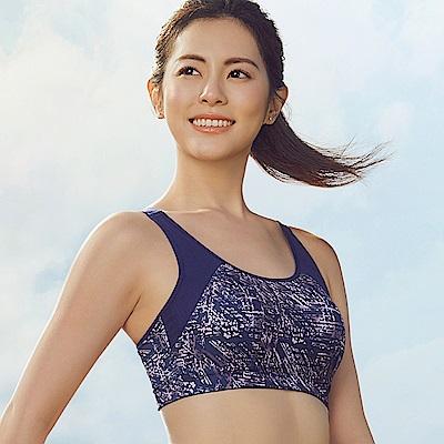 蕾黛絲-LadieSport好運動 Level4 吸震背心【印花款】C.E 星爍紫