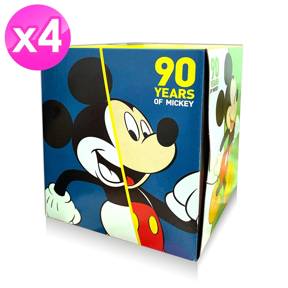 Disney 卡通系列 盒裝面紙 74抽x4盒/組