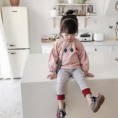 Baby unicorn 粉紅彩色葉子長袖上衣