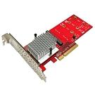 Awesome雙M.2 NVMe SSD轉PCIe 3.0x8轉接卡-AWD-DT-130