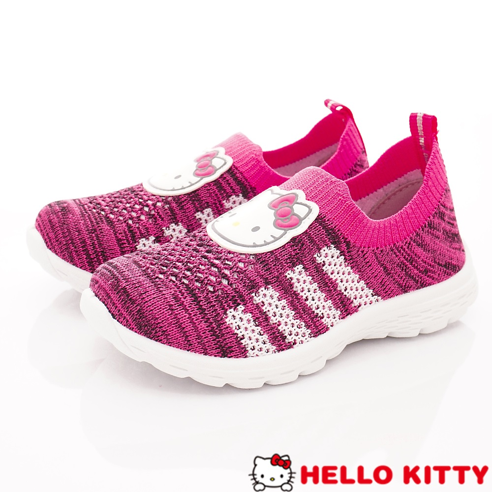 HelloKitty童鞋 針織休閒鞋款 SE19808桃(中小童段)