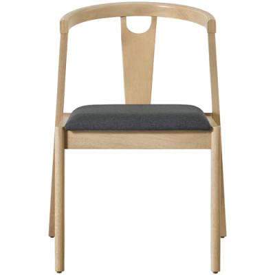 文創集 貝洛卡北歐風棉麻布實木餐椅2入組(純粹木語系列)-50x59x77cm免組
