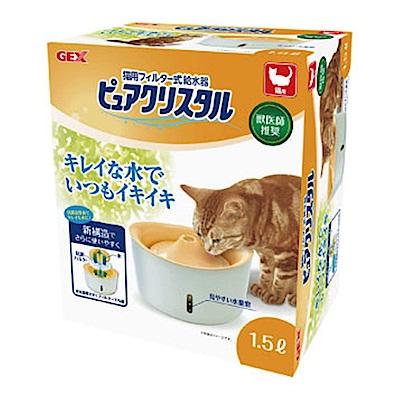 GEX 視窗型 貓用淨水飲水器 1.5L【57273】