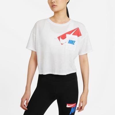 Nike DRY GRX CROP TOP 女短袖上衣 短版-白-DC7190100