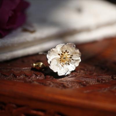 東方美學森系文藝立體花朵925純銀戒指-設計所在