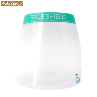 台灣PHOTOPLY透明180度防飛沫面罩防噴濺面罩PFS-02模型制作防霧保護面罩防塵面罩(可再戴口罩) 適餐飲服務業保全公仔模型噴漆用