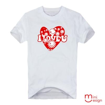 I LOVE U愛花田潮流設計短T 三色-Minidesign