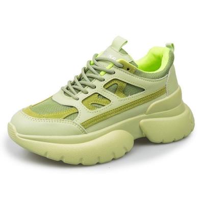 韓國KW美鞋館 俐落城市女孩運動鞋-淺綠