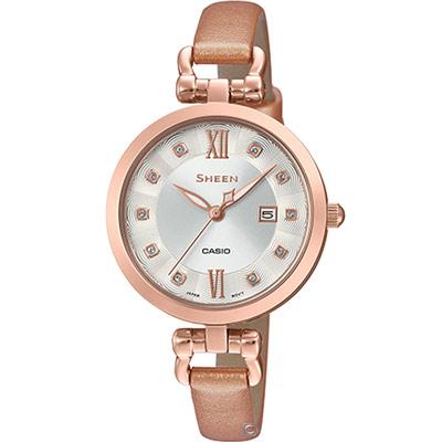 CASIO  SHEEN 氣質優雅時尚腕錶 (SHE-4055PGL-7B)30mm