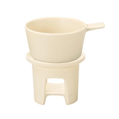 日本 MEISTER HAND TOOLS 起司湯鍋組(湯碗+熱湯架)-米白