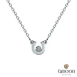 amoon 浪漫艾菲爾系列 Only U 9K金鑽石項鍊