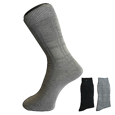 三合豐 ELF 竹炭抗菌除臭歐式立體條紋紳士襪/西裝襪-6雙