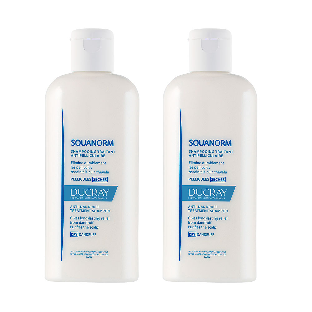 DUCRAY護蕾 舒緩抗屑洗髮精200ml2入組+精美旅行品*3(隨機出貨,恕不挑款)