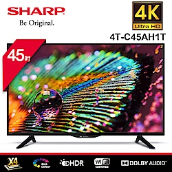 SHARP 夏普 45吋4K智慧連網液晶顯示器4T-C45AH1T