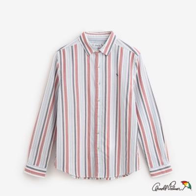Arnold Palmer-男裝-直條府綢棉質襯衫-白