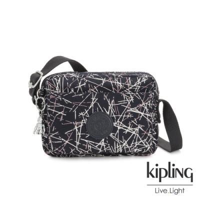 Kipling 英式粉漆塗鴉前後加寬收納側背包-ABANU