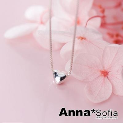 【3件5折】AnnaSofia 超迷你小甜心 925純銀鎖骨鍊項鍊(銀系)