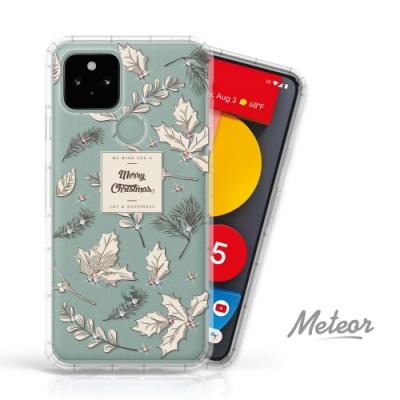 Meteor Google Pixel 5 奧地利水鑽殼 - 聖誕葉(多鑽版)