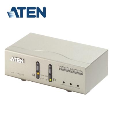 ATEN 2進2出 矩陣式螢幕切換器 (VS0202)