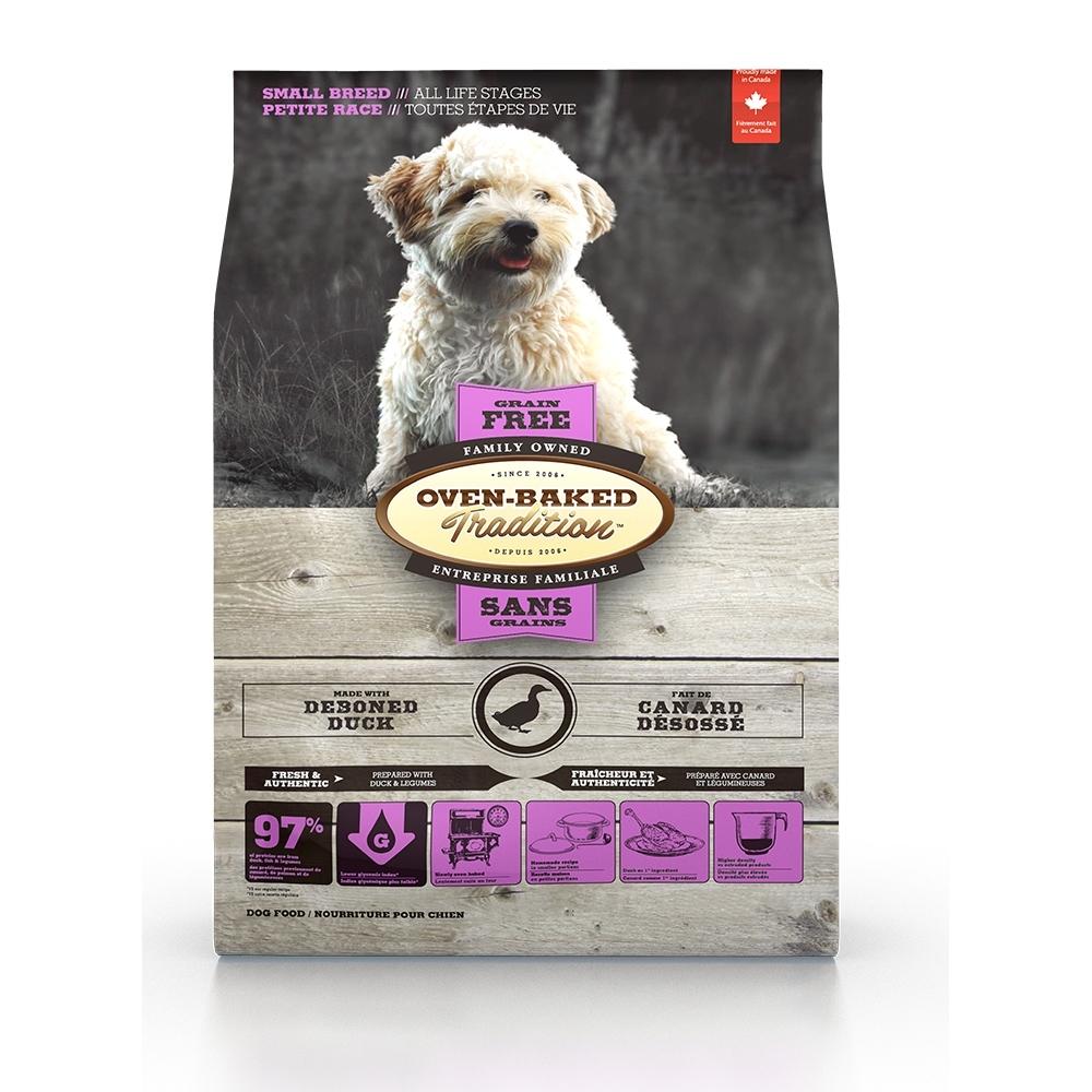 加拿大OVEN-BAKED烘焙客-全齡犬無穀鷹嘴豆鴨-小顆粒 1kg(2.2lb) 兩包組