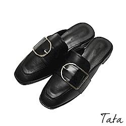 方扣粗跟穆勒鞋 TATA