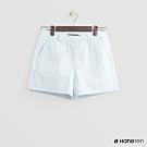 Hang Ten - 女裝 - 經典簡約配色中腰短褲 - 淺藍