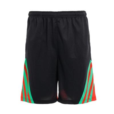 【V-TEAM】男款配色條紋剪接吸濕排汗籃球褲-黑