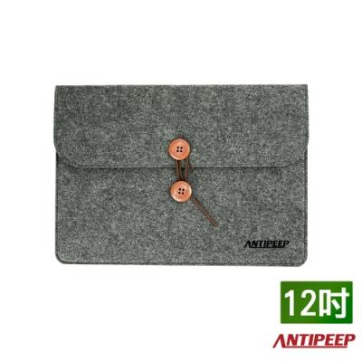 ANTIPEEP 極簡時尚厚版毛氈手拿包/平板包/文件包-12吋