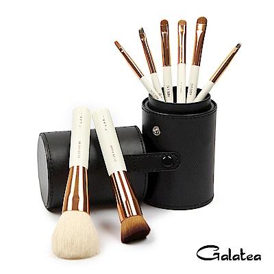 Galatea葛拉蒂 金顏短柄系列 8支裝頂級彩妝刷具組-黑