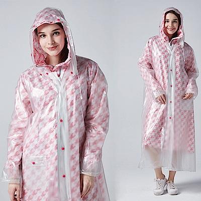 【寶嘉尼 BAOGANI】B04 雙層雨衣 - 千鳥格