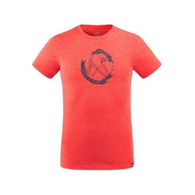 MILLET 男 OLD GEAR 有機棉短袖排汗衣 紅-MIV86689040