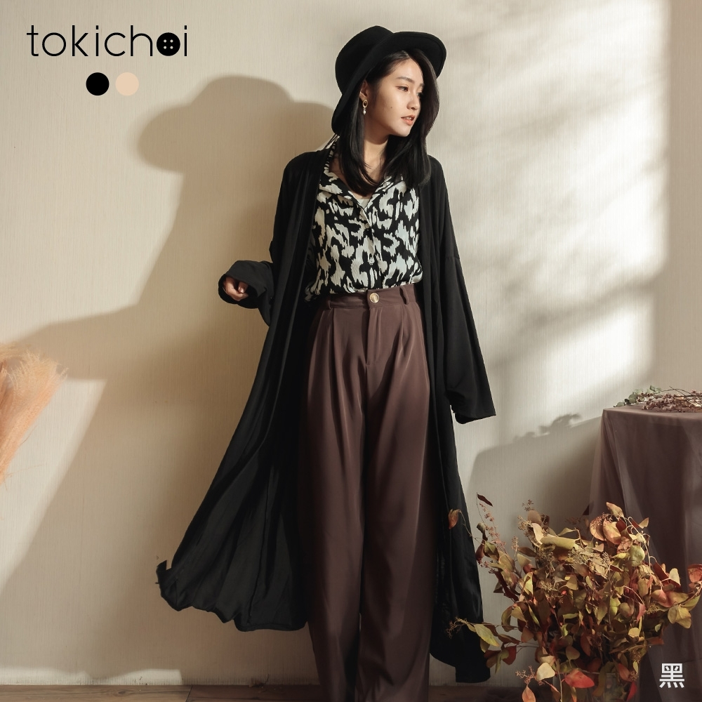 東京著衣 百搭休閒長版罩衫(共二色)